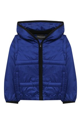 Детского куртка с капюшоном EMPORIO ARMANI синего цвета, арт. 3KHBT7/1NLYZ | Фото 1