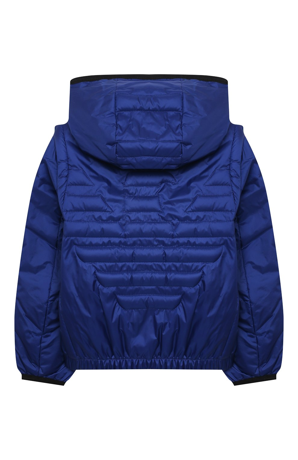 Детского куртка с капюшоном EMPORIO ARMANI синего цвета, арт. 3KHBT7/1NLYZ   Фото 2