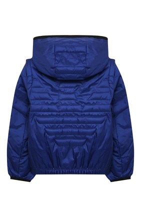 Детского куртка с капюшоном EMPORIO ARMANI синего цвета, арт. 3KHBT7/1NLYZ | Фото 2