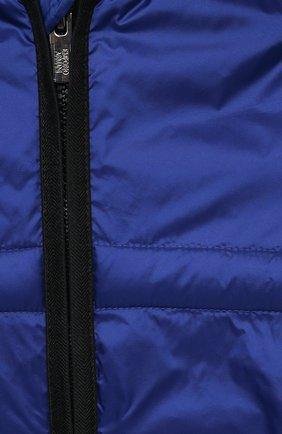 Детского куртка с капюшоном EMPORIO ARMANI синего цвета, арт. 3KHBT7/1NLYZ   Фото 3