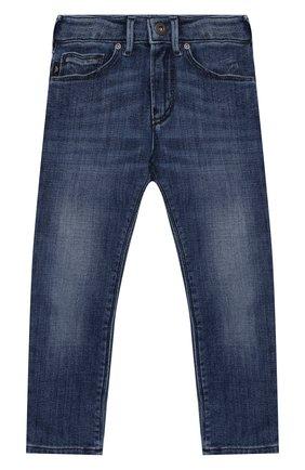 Детские джинсы EMPORIO ARMANI синего цвета, арт. 3K4J06/4D2JZ | Фото 1