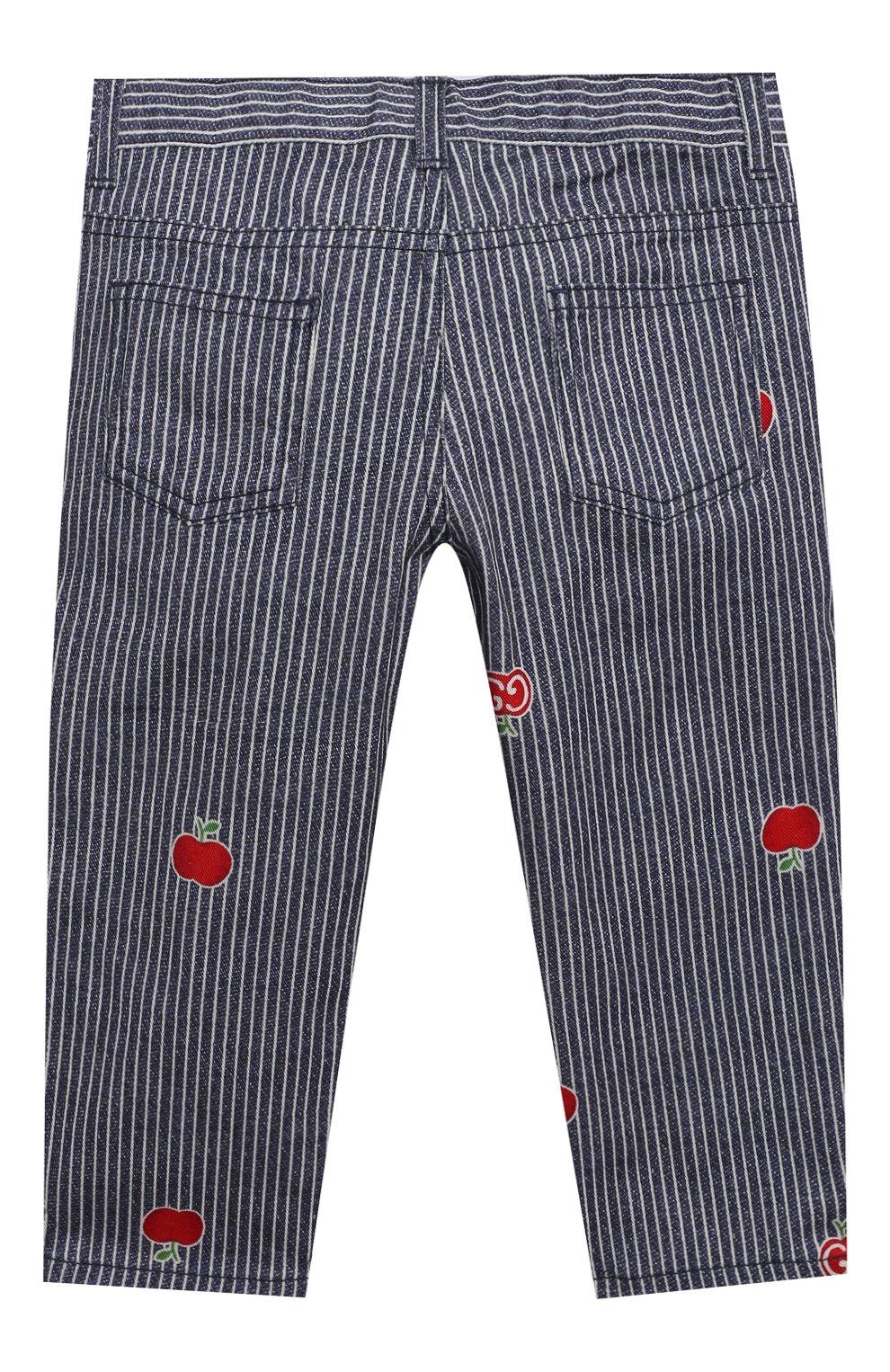 Детские джинсы GUCCI голубого цвета, арт. 652638/XDBKY   Фото 2