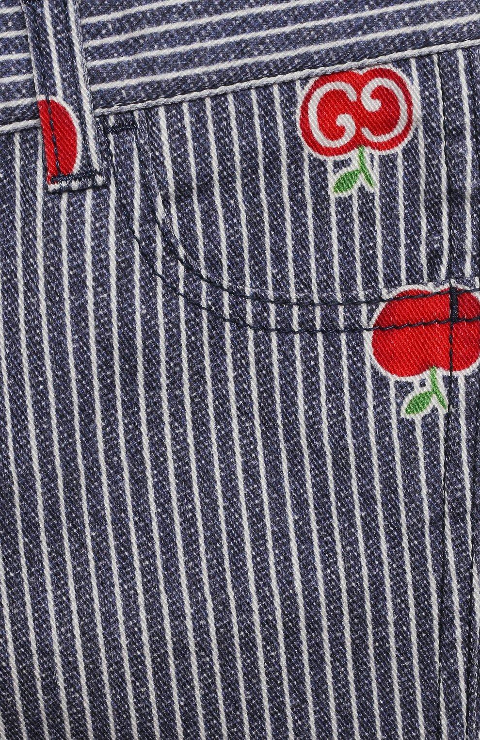 Детские джинсы GUCCI голубого цвета, арт. 652638/XDBKY   Фото 3