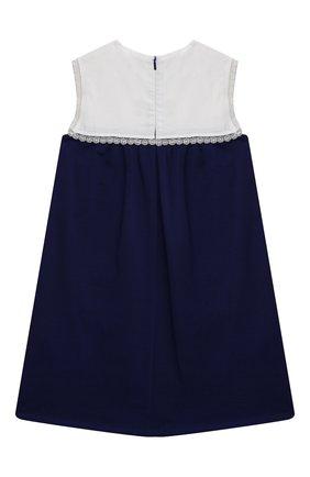 Детское хлопковое платье GUCCI синего цвета, арт. 650131/XJDAL   Фото 2
