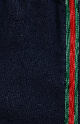 Детские хлопковые шорты GUCCI синего цвета, арт. 547189/XJCR4 | Фото 3