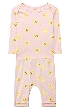 Детский комплект из лонгслива и брюк STELLA MCCARTNEY розового цвета, арт. 602581/SQJ09 | Фото 1