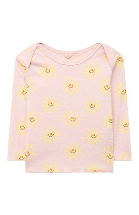 Детский комплект из лонгслива и брюк STELLA MCCARTNEY розового цвета, арт. 602581/SQJ09 | Фото 2
