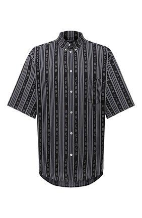 Мужская рубашка из вискозы BALENCIAGA черного цвета, арт. 647354/TKL32 | Фото 1
