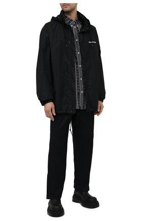 Мужская рубашка из вискозы BALENCIAGA черного цвета, арт. 647354/TKL32 | Фото 2