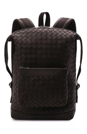 Мужской кожаный рюкзак BOTTEGA VENETA темно-коричневого цвета, арт. 653118/V0E54 | Фото 1