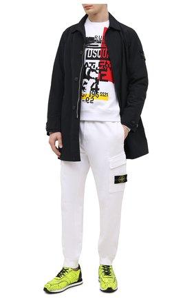 Мужские кожаные кроссовки jimi running GIUSEPPE ZANOTTI DESIGN желтого цвета, арт. IU00030/008 | Фото 2