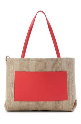 Женский сумка inside out medium LORO PIANA кораллового цвета, арт. FAL6525   Фото 1 (Сумки-технические: Сумки-шопперы; Ошибки технического описания: Нет ширины; Размер: medium; Материал: Текстиль)