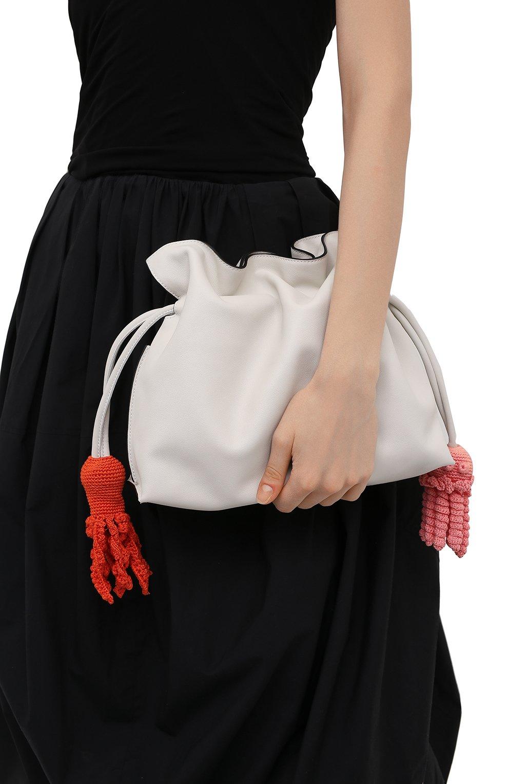 Женский клатч flamenco loewe x paula's ibiza LOEWE белого цвета, арт. A411FC1X28 | Фото 2