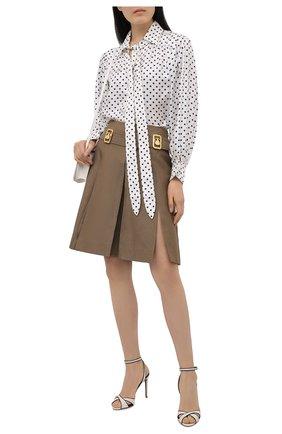 Женские кожаные босоножки deana RALPH LAUREN белого цвета, арт. 800841334 | Фото 2 (Материал внутренний: Натуральная кожа; Каблук высота: Высокий; Подошва: Плоская; Каблук тип: Шпилька)
