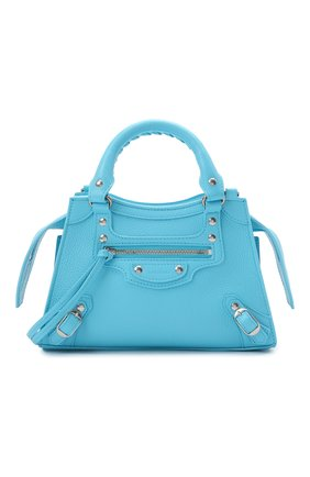 Женская сумка neo classic mini BALENCIAGA голубого цвета, арт. 638524/15Y4Y | Фото 1 (Материал: Натуральная кожа; Сумки-технические: Сумки top-handle, Сумки через плечо; Размер: mini; Ремень/цепочка: На ремешке)