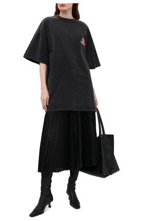 Женская плиссированная юбка BALENCIAGA черного цвета, арт. 659068/TJV20 | Фото 2