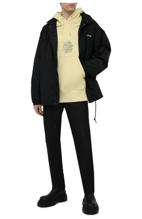 Мужской хлопковое худи GIVENCHY желтого цвета, арт. BMJ0B63Y69 | Фото 2