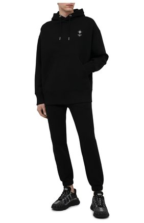 Мужской хлопковое худи GIVENCHY черного цвета, арт. BMJ0BA3Y69 | Фото 2