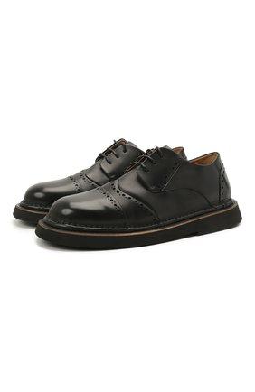 Мужские кожаные дерби MARSELL черного цвета, арт. MM4202/PELLE VITELL0 | Фото 1