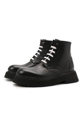 Мужские кожаные ботинки MARSELL черного цвета, арт. MM4186/PELLE VITELL0 | Фото 1