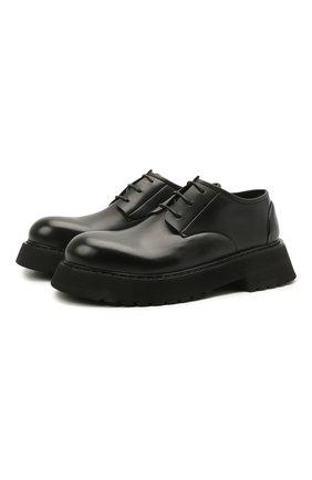 Мужские кожаные дерби MARSELL черного цвета, арт. MM4185/PELLE VITELL0 | Фото 1