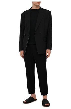 Мужские кожаные шлепанцы MARSELL черного цвета, арт. MM4146/PELLE V0L0NATA | Фото 2