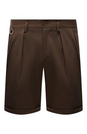 Мужские хлопковые шорты NEIL BARRETT хаки цвета, арт. PBPA832/Q011 | Фото 1