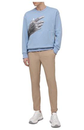 Мужские брюки NEIL BARRETT бежевого цвета, арт. PBPA488/Q012 | Фото 2