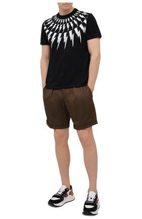 Мужская хлопковая футболка NEIL BARRETT черного цвета, арт. PBJT883S/Q516S | Фото 2