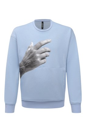 Мужской свитшот NEIL BARRETT голубого цвета, арт. PBJS736S/Q556S | Фото 1