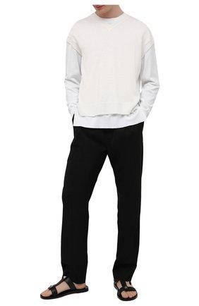 Мужские кожаные шлепанцы roman stud VALENTINO черного цвета, арт. VY0S0E44/YSY | Фото 2 (Материал внутренний: Натуральная кожа)
