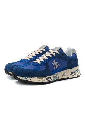 Мужские комбинированные кроссовки mase PREMIATA синего цвета, арт. MASE/VAR5167 | Фото 1