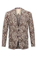 Мужской льняной пиджак RALPH LAUREN коричневого цвета, арт. 798836133 | Фото 1