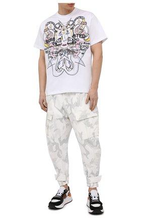 Мужские хлопковые джоггеры DOLCE & GABBANA белого цвета, арт. GWT2AZ/G7YEB | Фото 2