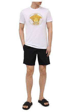 Мужские плавки-шорты DOLCE & GABBANA черного цвета, арт. M4A13T/FPUAB | Фото 2