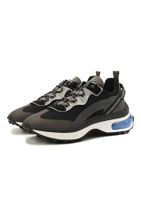 Мужские комбинированные кроссовки bubble DSQUARED2 черного цвета, арт. SNM0159 11704095 | Фото 1 (Подошва: Массивная; Материал внутренний: Текстиль; Стили: Гранж; Материал внешний: Текстиль)
