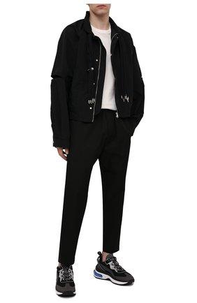 Мужские комбинированные кроссовки bubble DSQUARED2 черного цвета, арт. SNM0159 11704095 | Фото 2 (Подошва: Массивная; Материал внутренний: Текстиль; Стили: Гранж; Материал внешний: Текстиль)