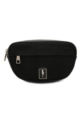 Мужская текстильная поясная сумка NEIL BARRETT черного цвета, арт. PBB0293B Q9100 | Фото 1