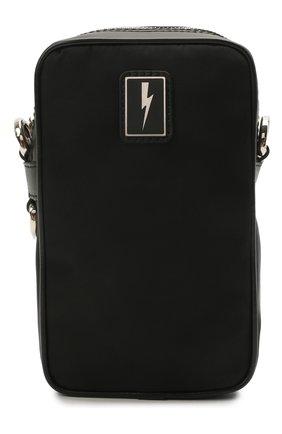 Мужская текстильная сумка NEIL BARRETT черного цвета, арт. PBB0275B Q9100 | Фото 1