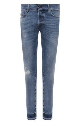 Мужские джинсы 7 FOR ALL MANKIND синего цвета, арт. JSMVB500PH | Фото 1