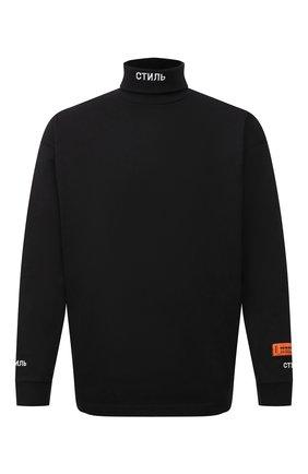 Мужской хлопковый свитшот HERON PRESTON черного цвета, арт. HMAB020S21JER0011001 | Фото 1
