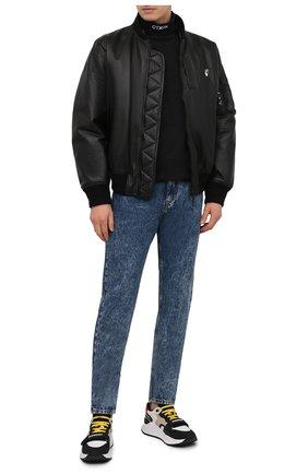 Мужской хлопковый свитшот HERON PRESTON черного цвета, арт. HMAB020S21JER0011001 | Фото 2