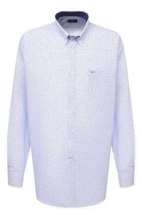 Мужская хлопковая рубашка PAUL&SHARK голубого цвета, арт. 21413260/C00/48-50 | Фото 1