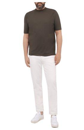 Мужская хлопковая футболка KIRED хаки цвета, арт. WBACI0MW732100200F/64-74 | Фото 2