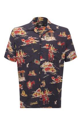 Мужская рубашка изо льна и вискозы RRL разноцветного цвета, арт. 782825646 | Фото 1