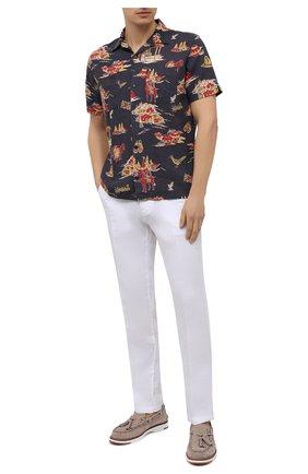 Мужская рубашка изо льна и вискозы RRL разноцветного цвета, арт. 782825646 | Фото 2