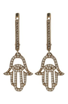 Женские серьги хамса DZHANELLI серебряного цвета, арт. 0377 | Фото 1