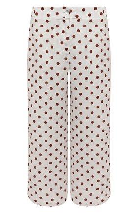 Женские льняное брюки LA FABBRICA DEL LINO светло-бежевого цвета, арт. 10110 | Фото 1
