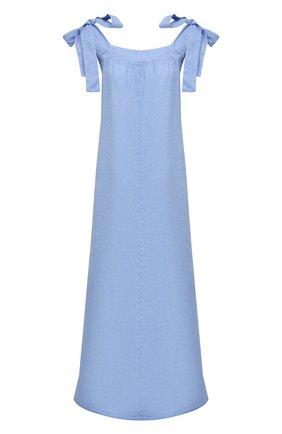 Женское льняное платье LA FABBRICA DEL LINO голубого цвета, арт. 10311 | Фото 1