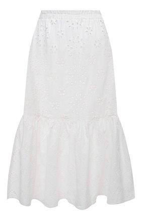 Женская хлопковая юбка LA FABBRICA DEL LINO белого цвета, арт. 10202   Фото 1